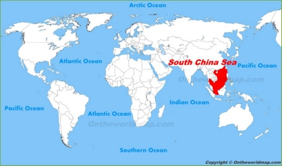 South China Sea Location Map