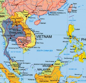 South China Sea political map