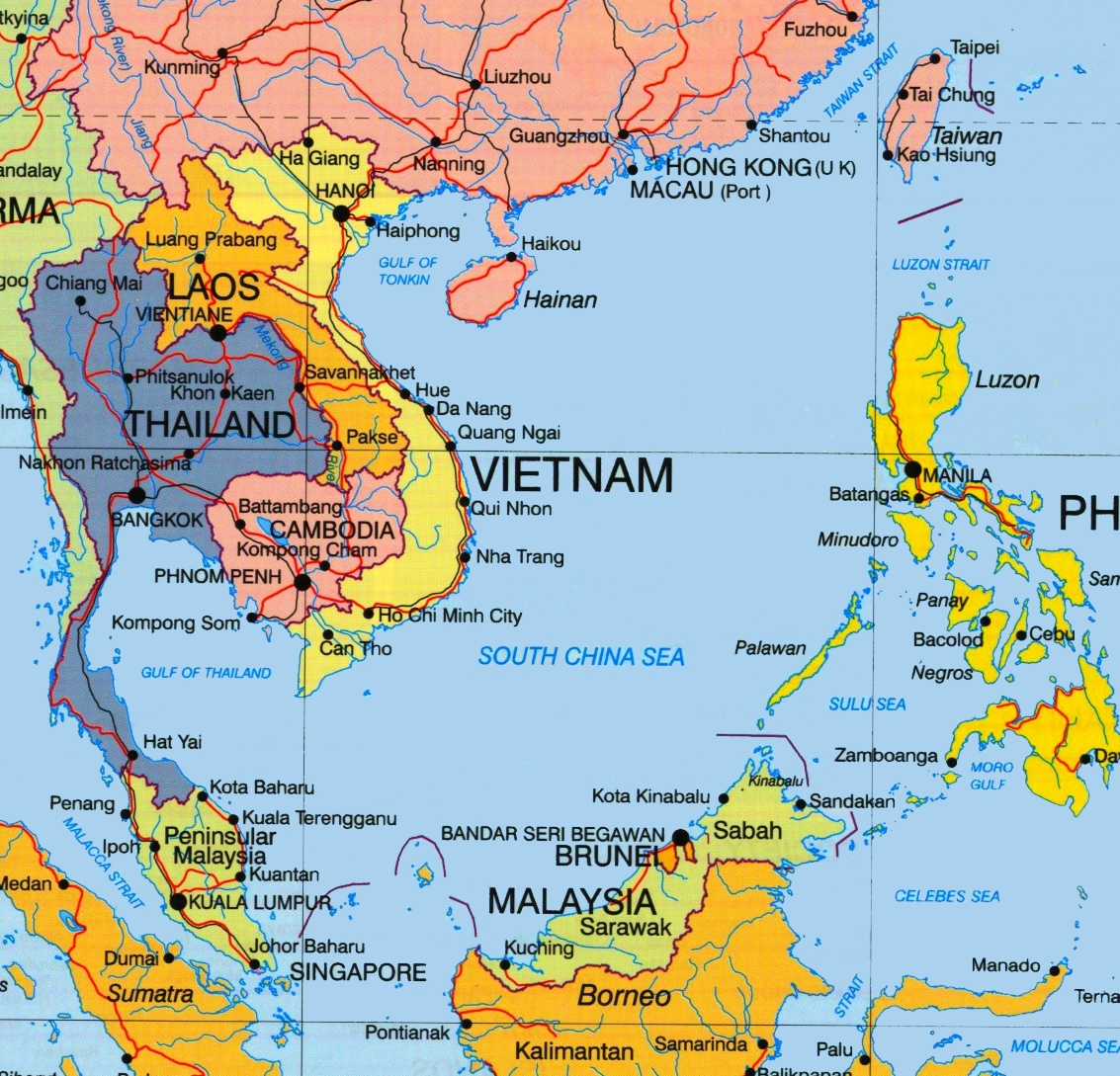 Map Of South China Sea South China Sea political map