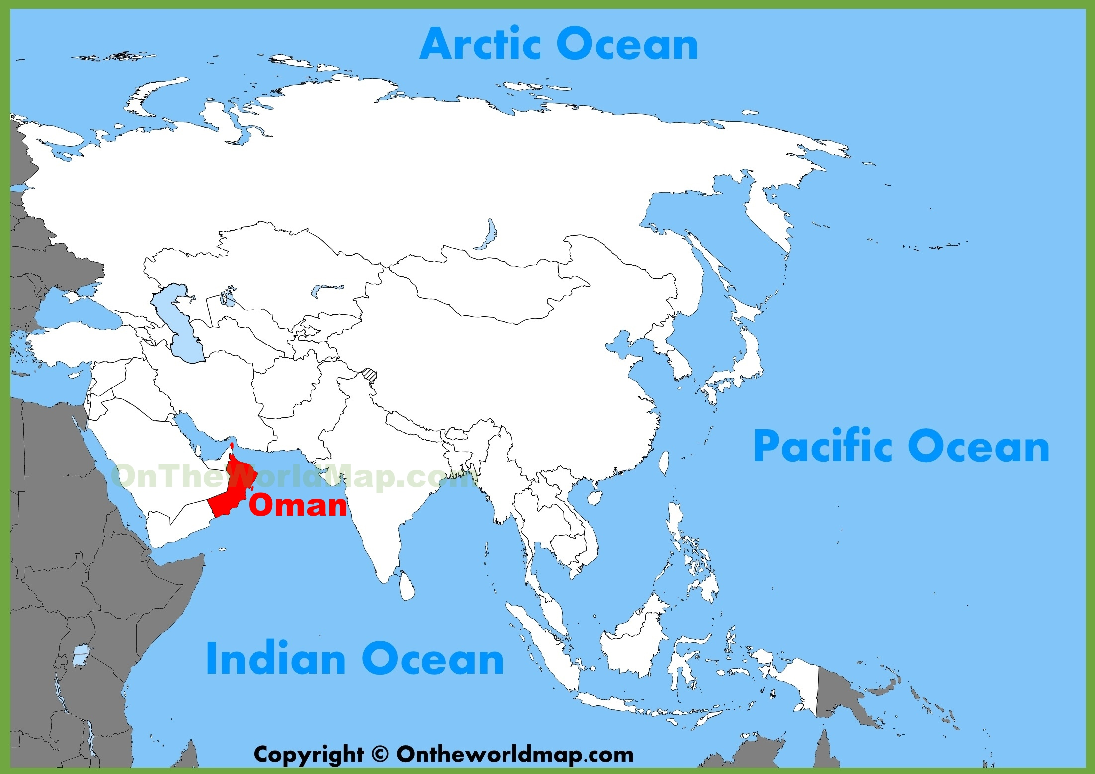 Oman location on the Asia map