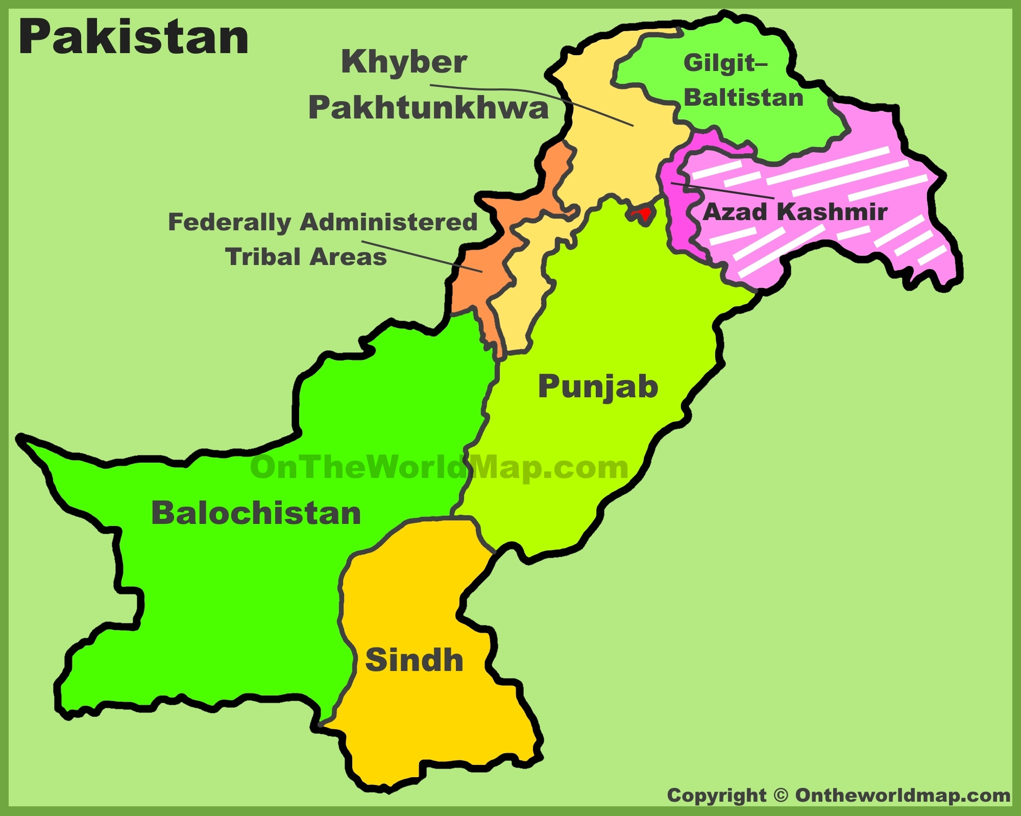 Administrative Divisions Map Of Pakistan - World map pakistan