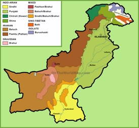 Map of ethnic groups in Pakistan