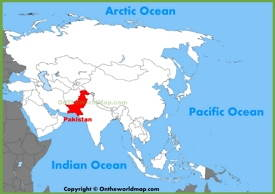 Pakistan location on the Asia map
