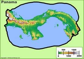 Panama physical map