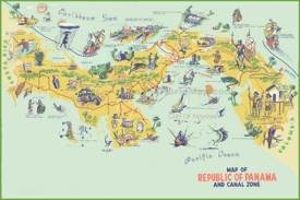 Panama tourist map