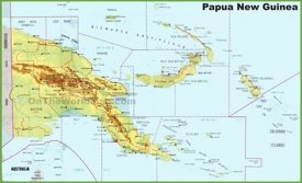 Large detailed map of Papua New Guinea