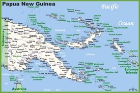 Papua New Guinea Maps Maps of Papua New Guinea