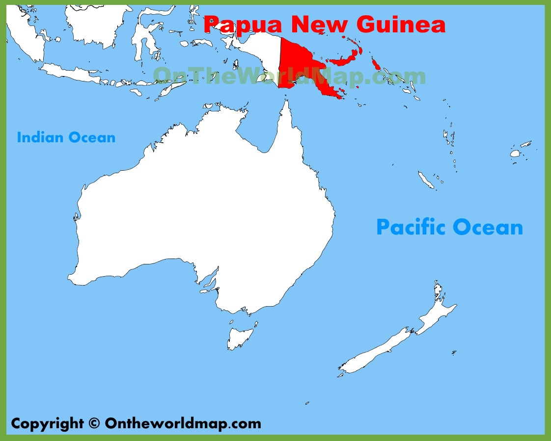 Where Is Papua New Guinea On A Map Papua New Guinea location on the Oceania map