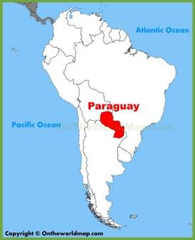 Paraguay location on the South America map