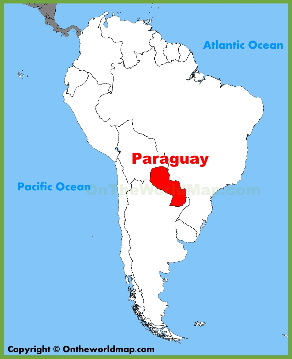 Paraguay Location On The South America Map - Map of paraguay world