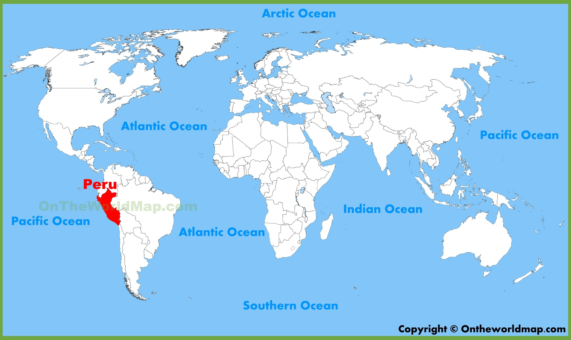 Where Is Peru On World Map Peru location on the World Map