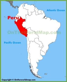 Peru location on the South America map