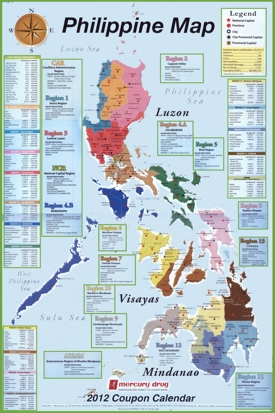 Administrative divisions map of Philippines