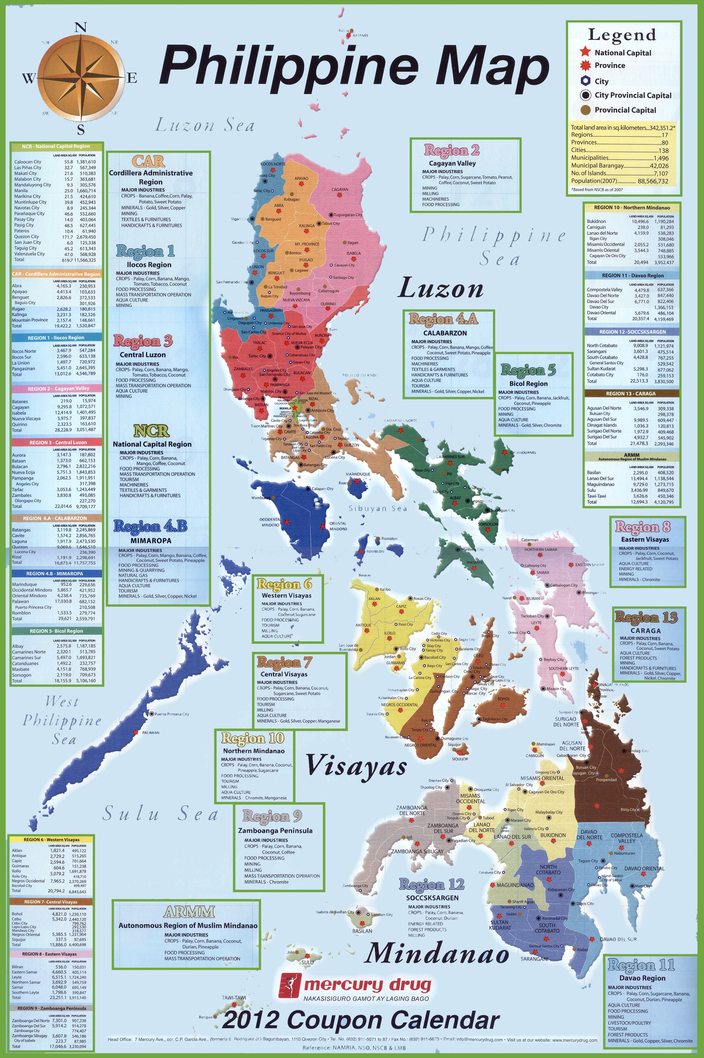 . administrative divisions map of philippines