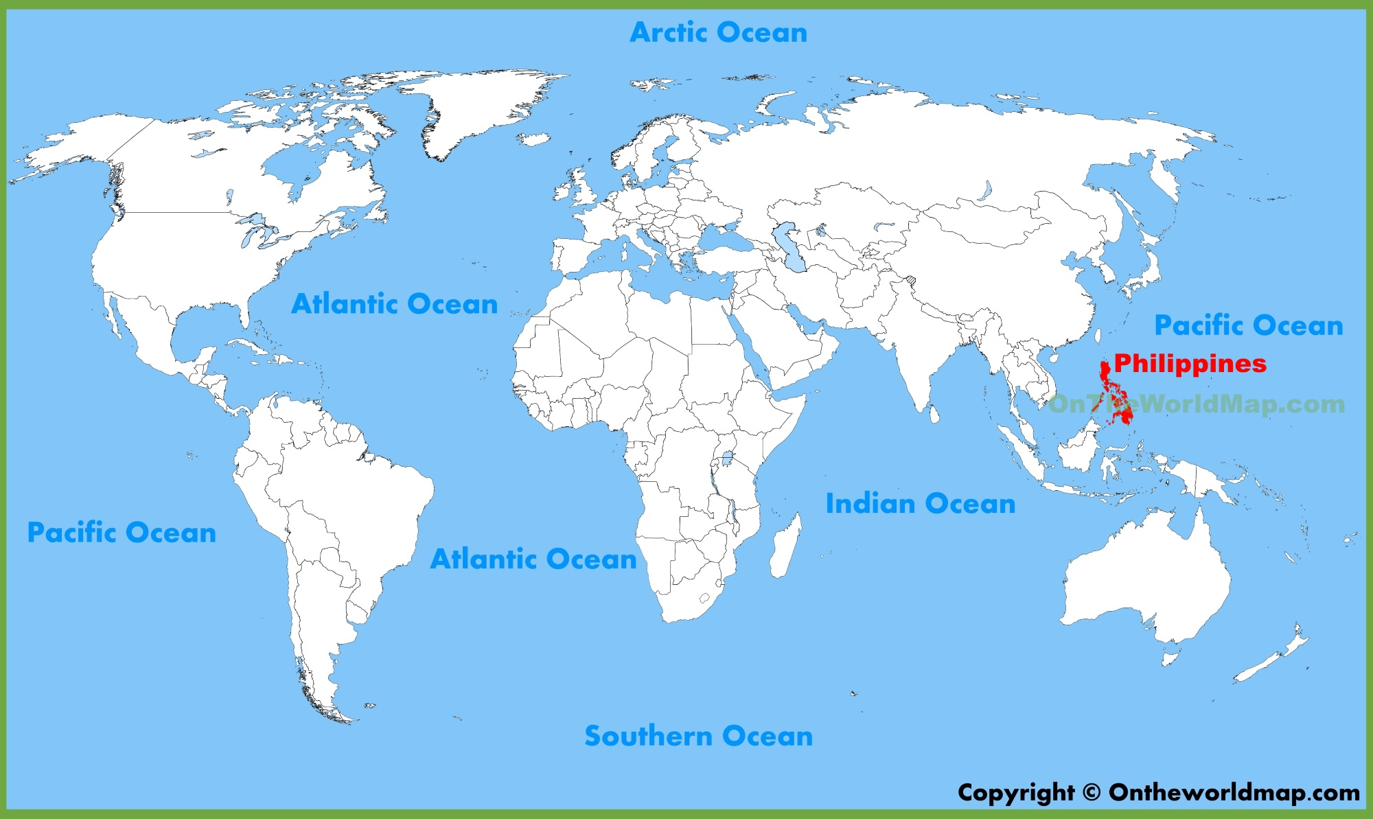 Philippines On The Map Philippines location on the World Map