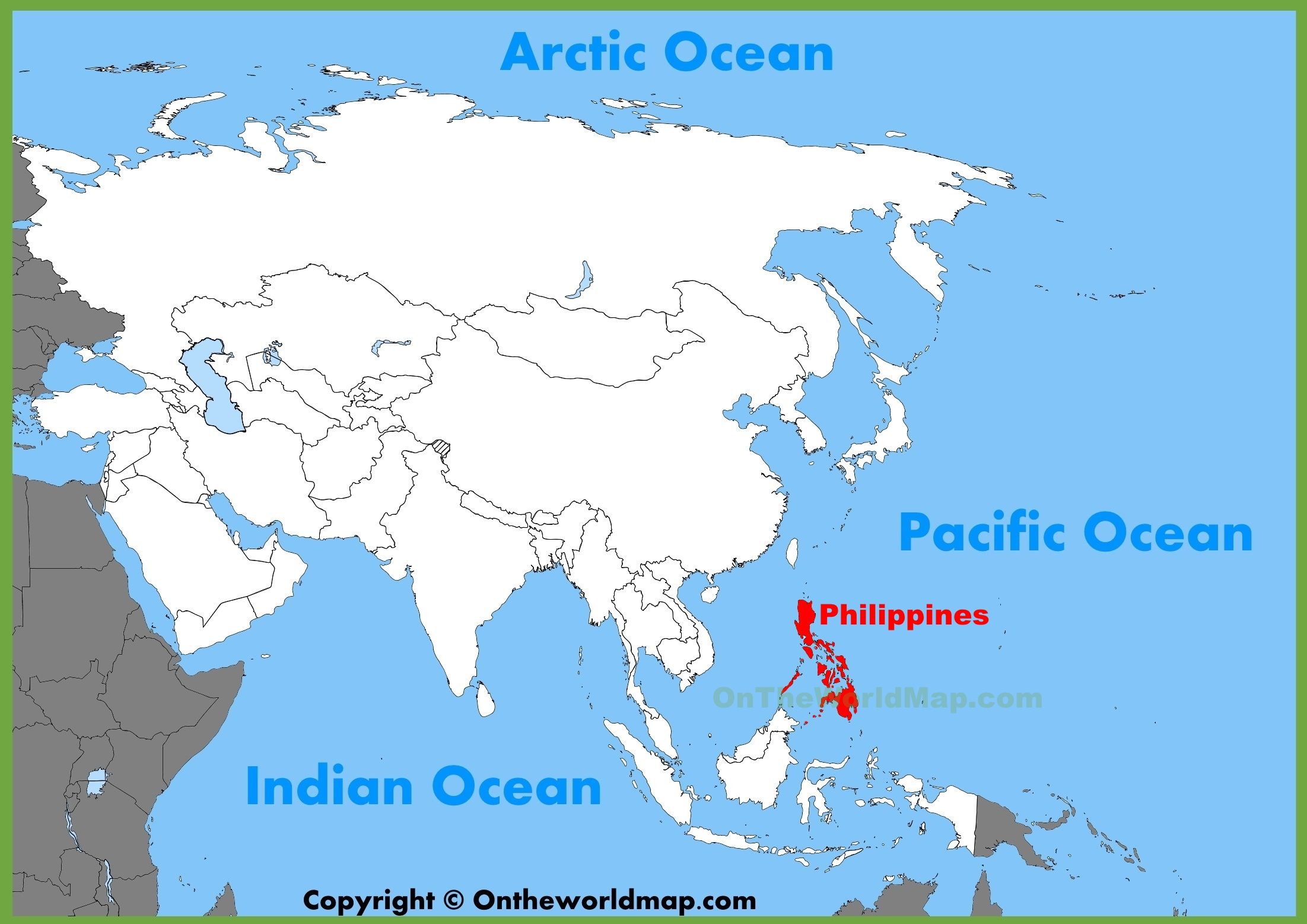 Philippines On The Map Philippines location on the Asia map