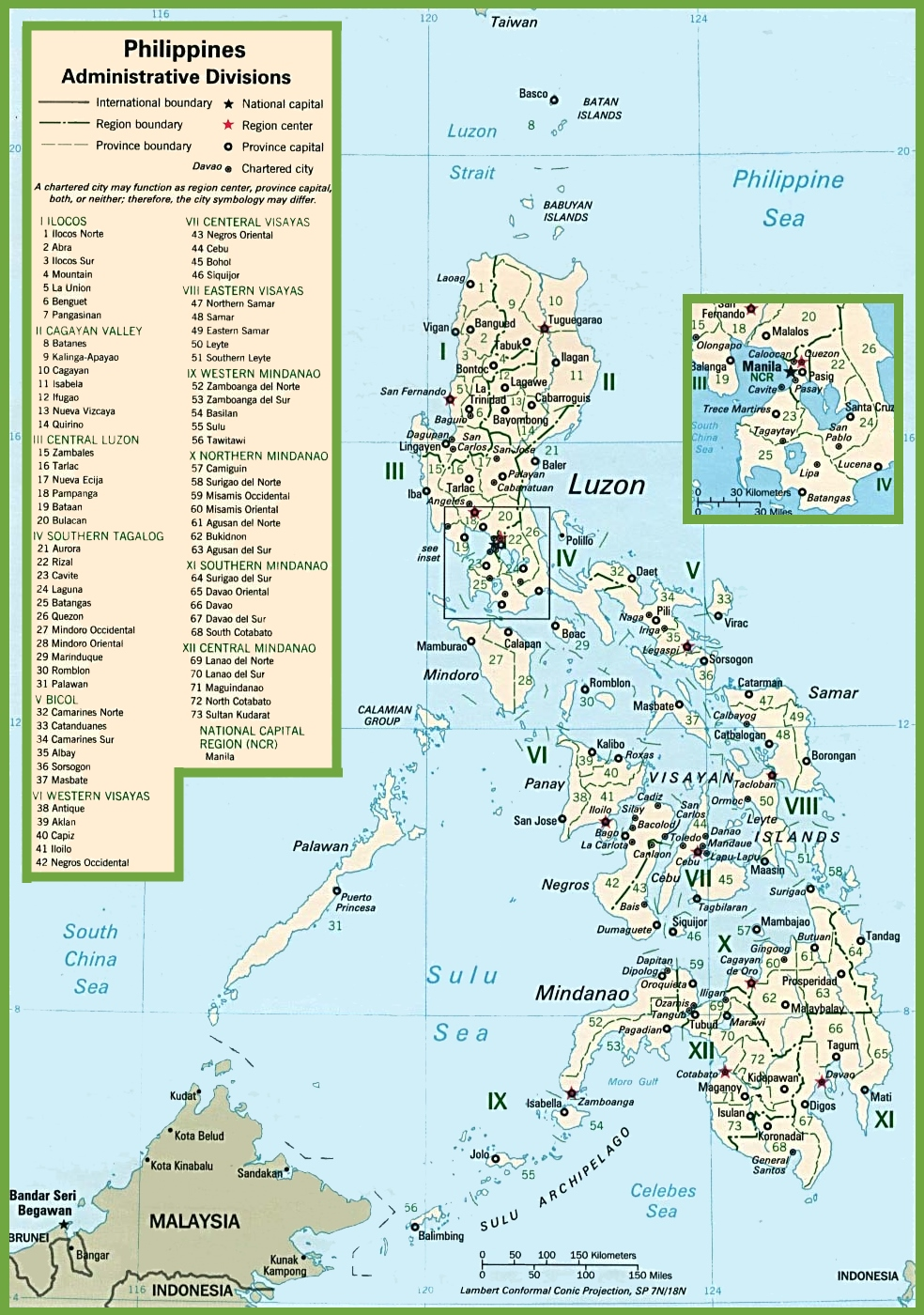 Philippines Political Map - Map of philippines