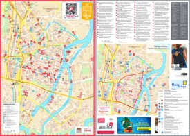 Gdańsk hotels and sightseeings map