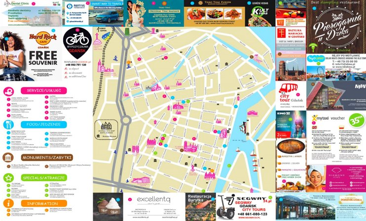 Gdańsk tourist map