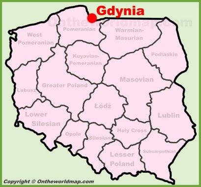 Gdynia Location Map