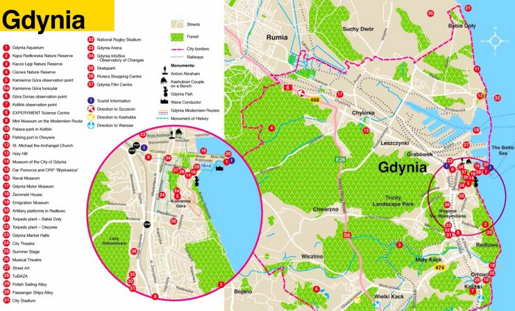 Gdynia tourist map