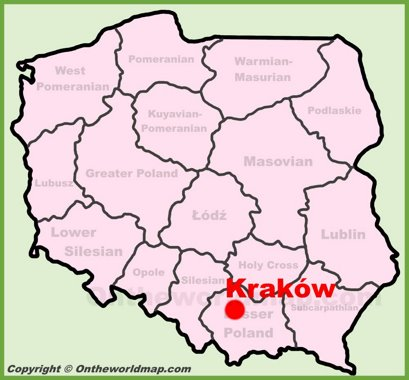 Kraków Location Map