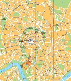 Kraków tourist map