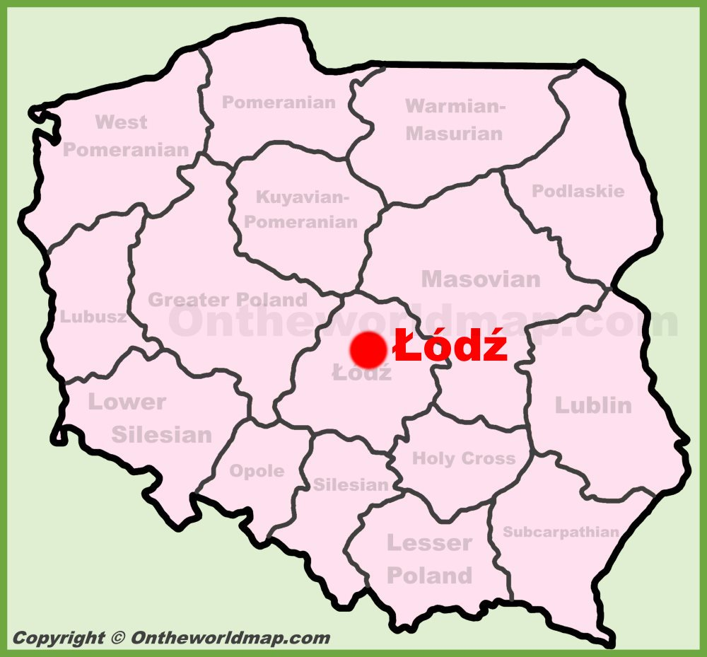 Lodz Poland Map Lodz location on the Poland map