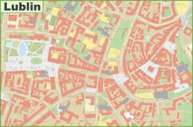 Lublin city center map