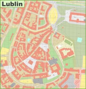 Lublin old town map