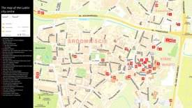 Lublin tourist map