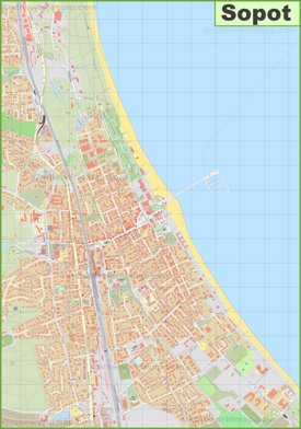 Large detailed map of Sopot