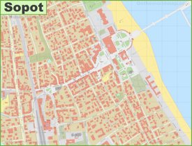 Sopot city center map
