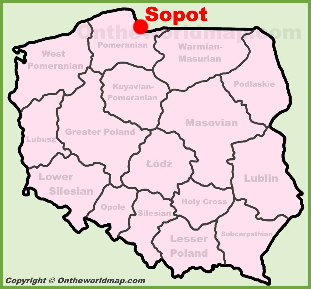 Sopot Location On The Poland Map