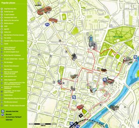 Szczecin tourist map