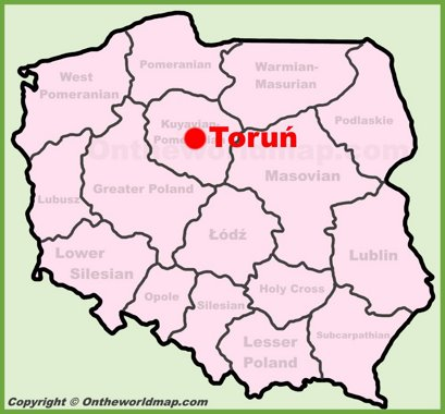 Toruń Location Map