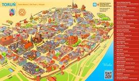 Toruń tourist map