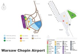 Warsaw Chopin Airport Map