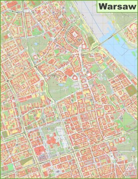 Warsaw city center map