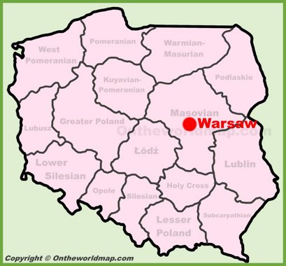 Map Of Poland Warsaw Warsaw Maps | Poland | Maps of Warsaw