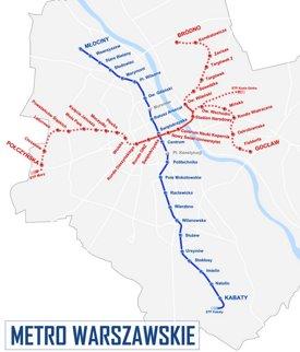Warsaw metro map