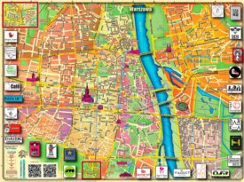 Warsaw tourist attractions map