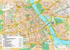 Warsaw tourist map