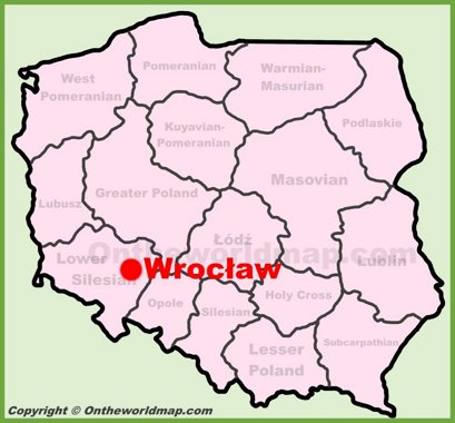 Wrocław Location Map