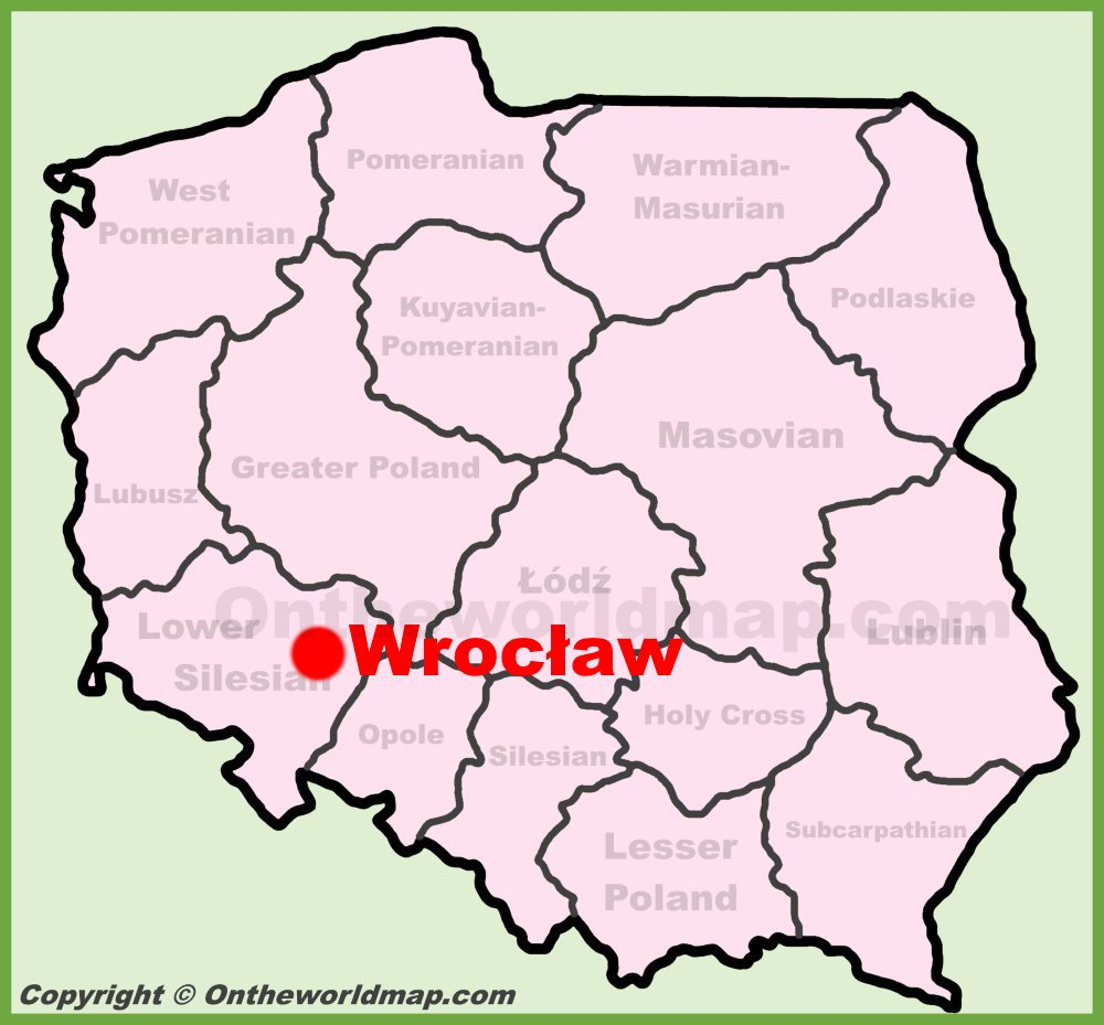Map Of Wroclaw Poland Wrocław location on the Poland map