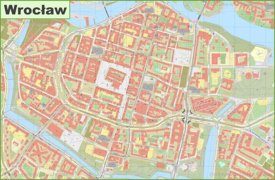 Wrocław old town map