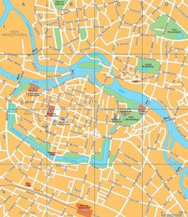 Wrocław tourist map