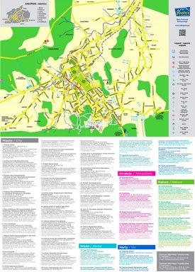 Zakopane sightseeing map