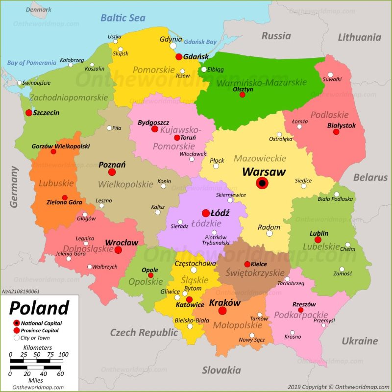 image about Printable Map of Poland identified as Poland Maps Maps of Poland