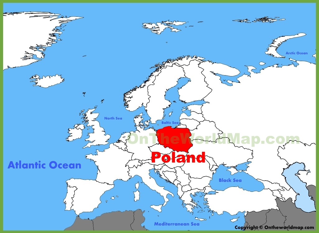 poland location on the europe map